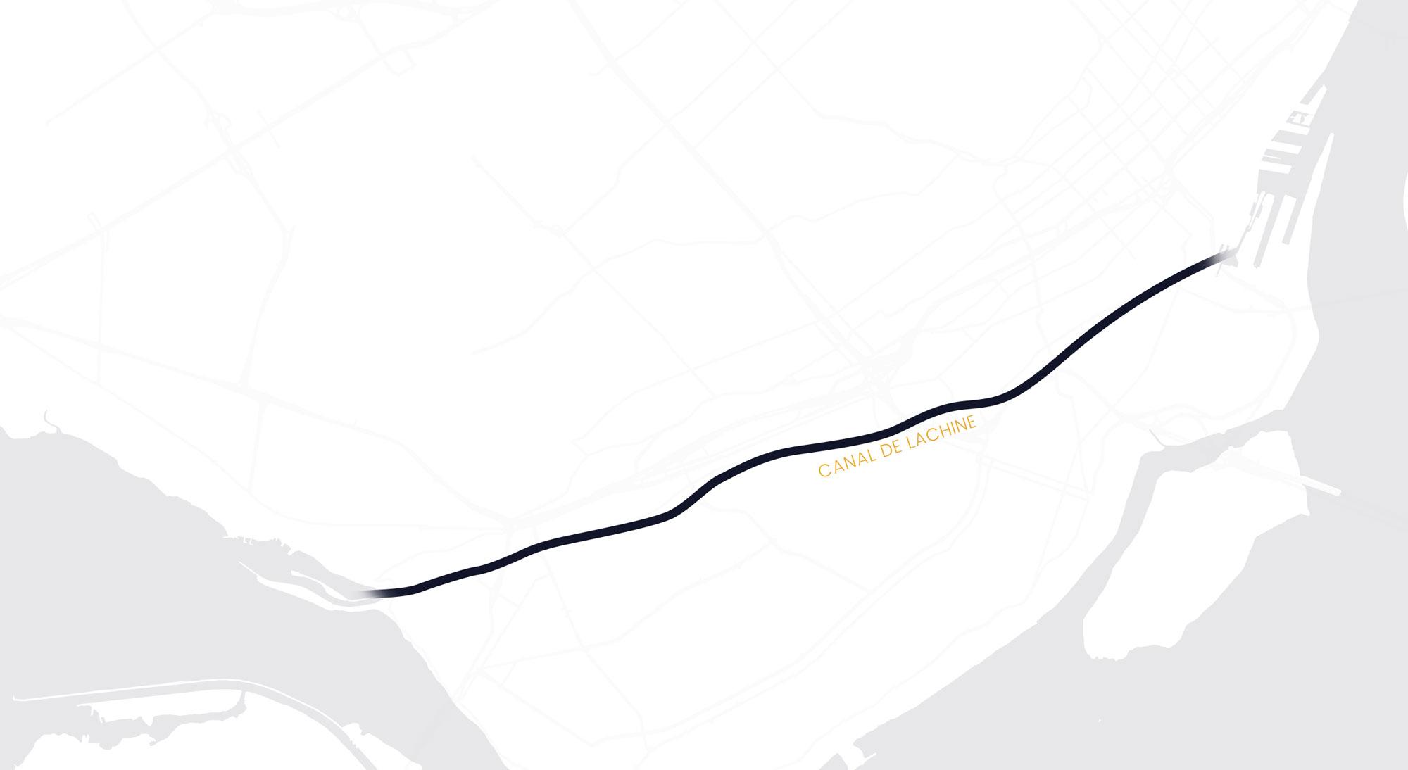 Carte de Montréal situant le projet